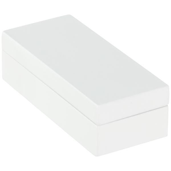 Mini Lacquered Rectangular Box White