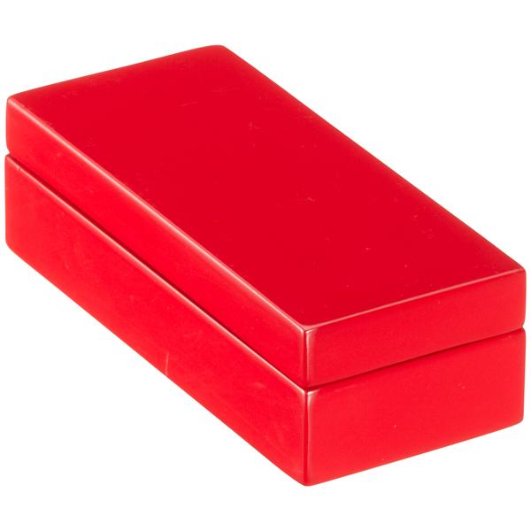 Mini Lacquered Rectangular Box Red