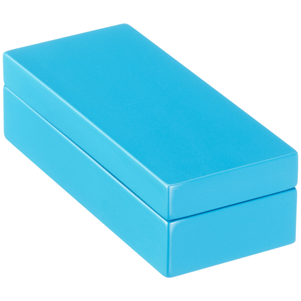 Mini Lacquered Rectangular Box Blue