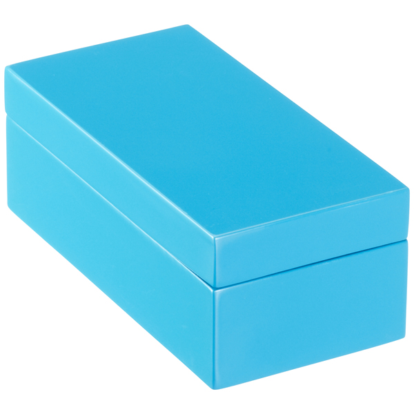X-Small Lacquered Rectangular Box Blue