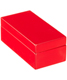 X-Small Lacquered Rectangular Box Red