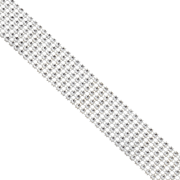 Wide Diamond Wrap Silver
