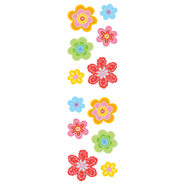 Sparkle Flower Stickers