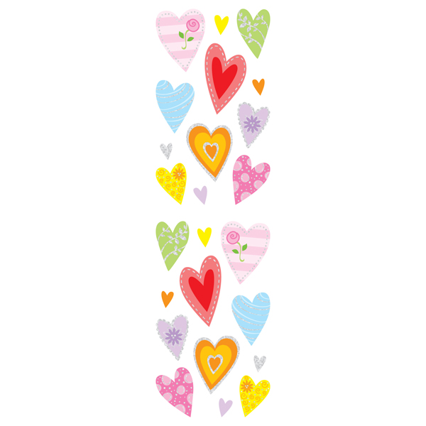 Sparkle Heart Stickers