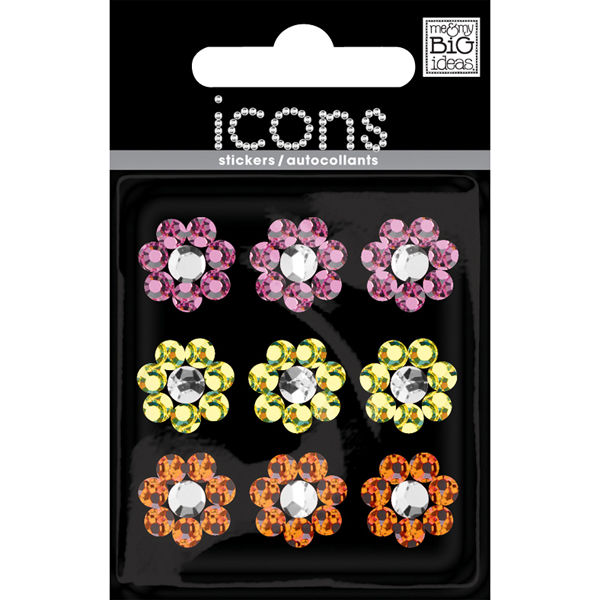 Small Flower Rhinestone Sticker