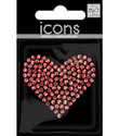 Large Red Heart Rhinestone Sticker