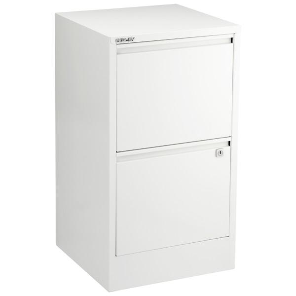 Bisley White 2 3 Drawer Locking Filing Cabinets