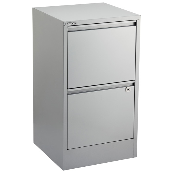 bisley silver 2 3 drawer locking filing cabinets the container rh containerstore com two drawer file cabinet wood two drawer file cabinet office depot