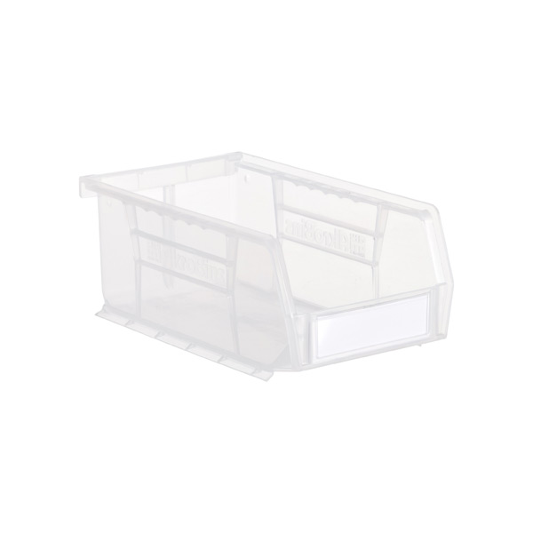 Small Label Holders w/ Labels Clear Pkg/4