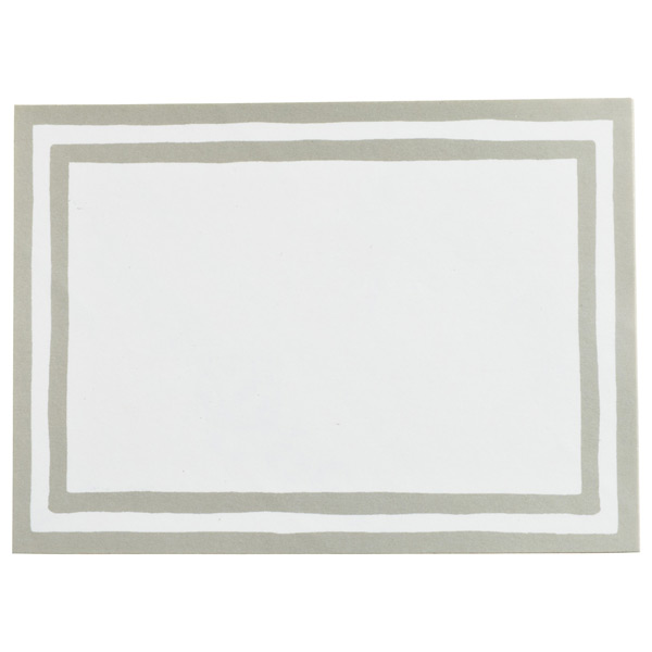 Stripe Bordered Labels Silver Pkg/12