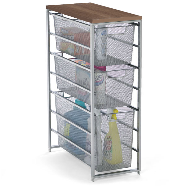 Platinum Elfa Mesh Laundry Storage The Container Store
