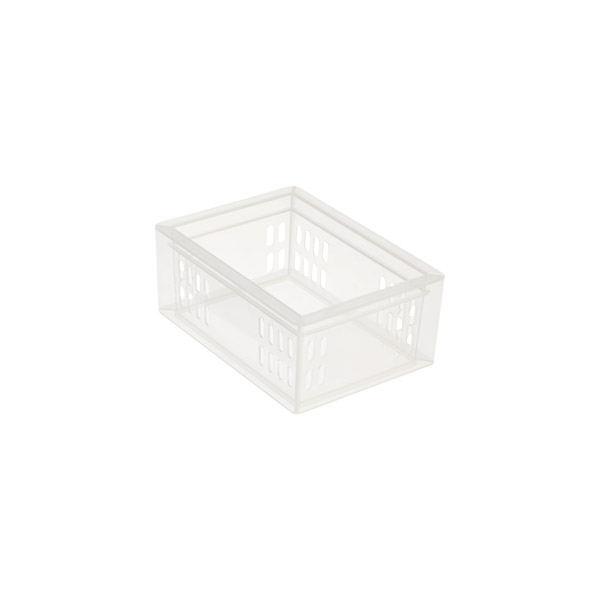 Small Stackable Organizer Tray Translucent