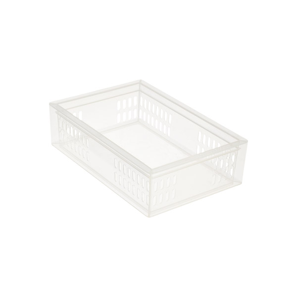 Medium Stackable Organizer Tray Translucent