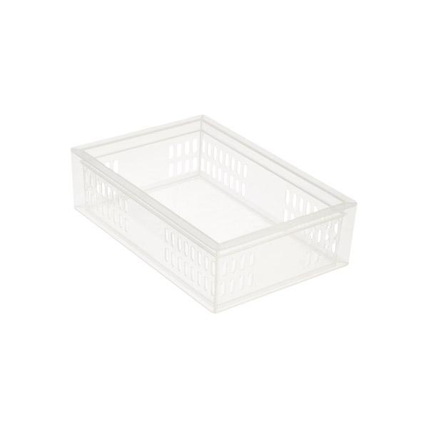 Medium Stackable Organizer Tray Translucent
