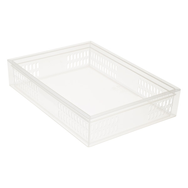 Large Stackable Organizer Tray Translucent