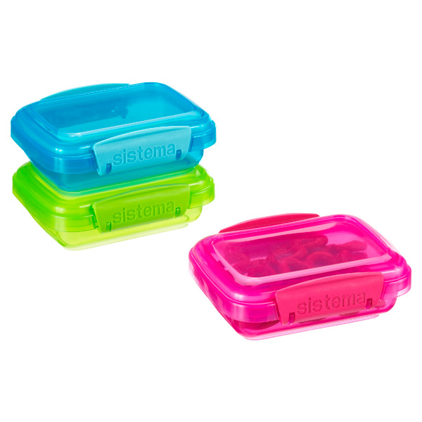 Sistema 6.7 oz. Colorful Klip-It Snack Pack Boxes