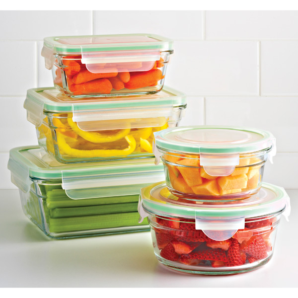 Snap Kitchen Hours: Glasslock Square Food Containers With Lids