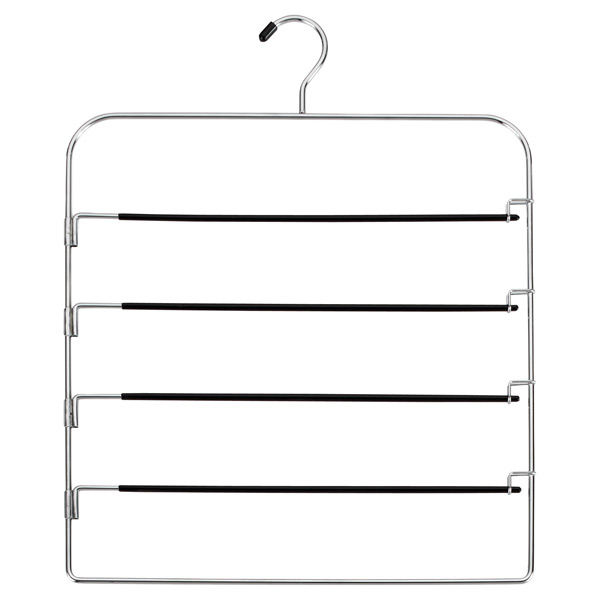 4-Tier Swing-Arm Pant Hanger Chrome