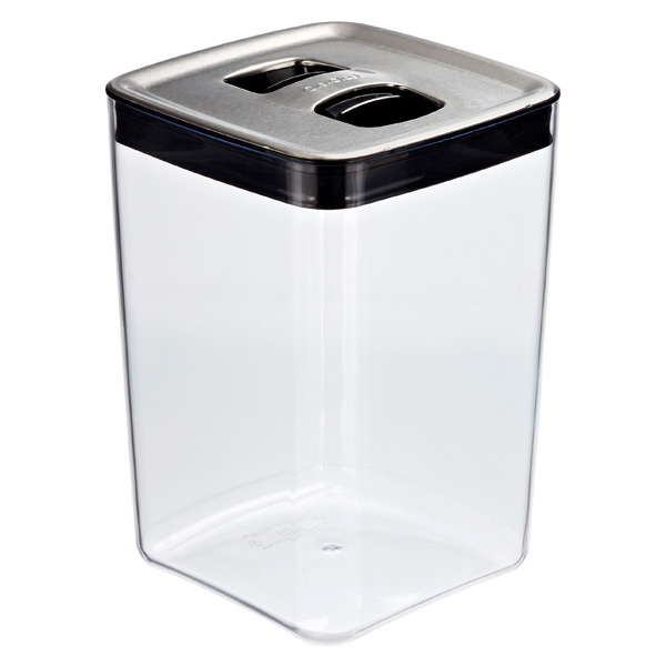 click clack cubes with stainless lids the container store. Black Bedroom Furniture Sets. Home Design Ideas