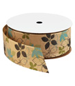 Flowers on Kraft Ribbon