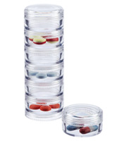 Clear 7-Section Stacking Pill Organizer