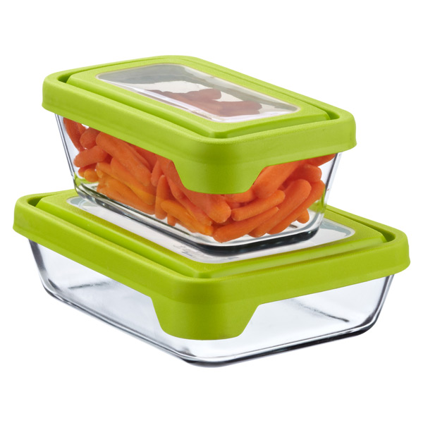 Anchor Hocking Glass TrueSeal Rectangle Food Storage Containers