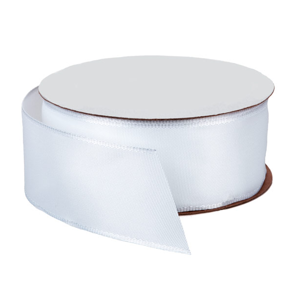 Bright White Wired Ribbon
