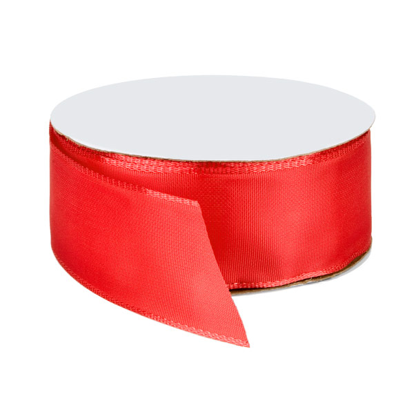 Bright Red Wired Ribbon