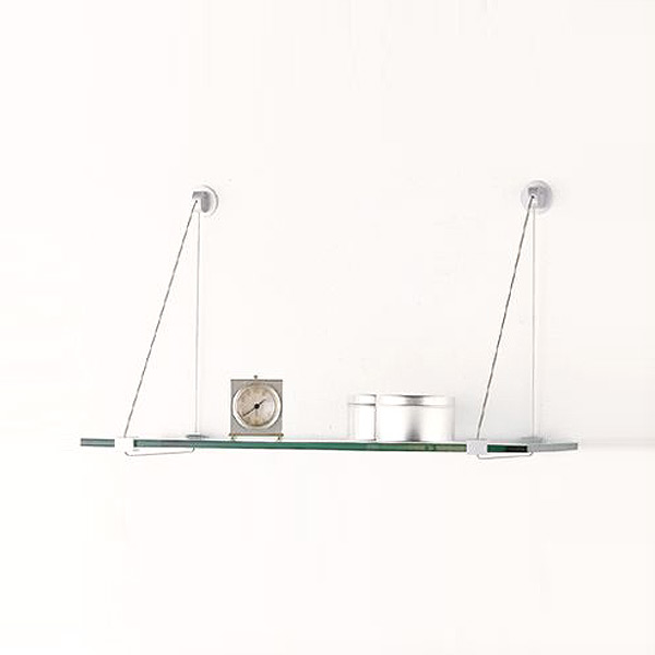 Glass Shelves with Cable Brackets