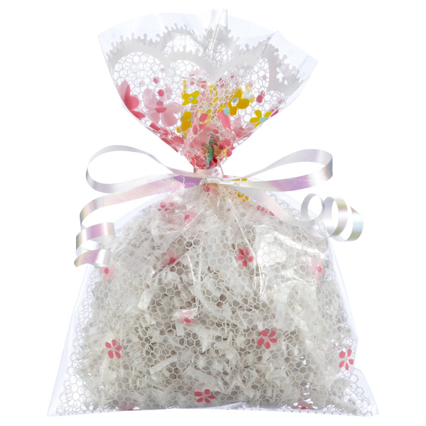 Pink Floral Lace Gift Sacks