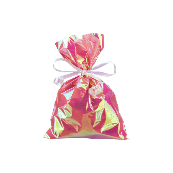 Small Iridescent Sacks Pink Pkg/10