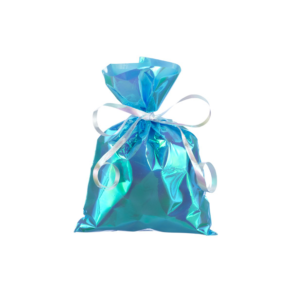 Small Iridescent Sacks Blue Pkg/10