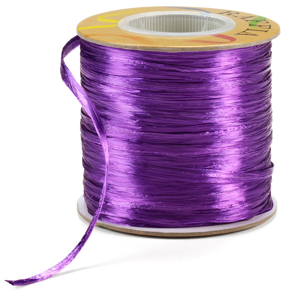 Purple Pearl Raffia Ribbon