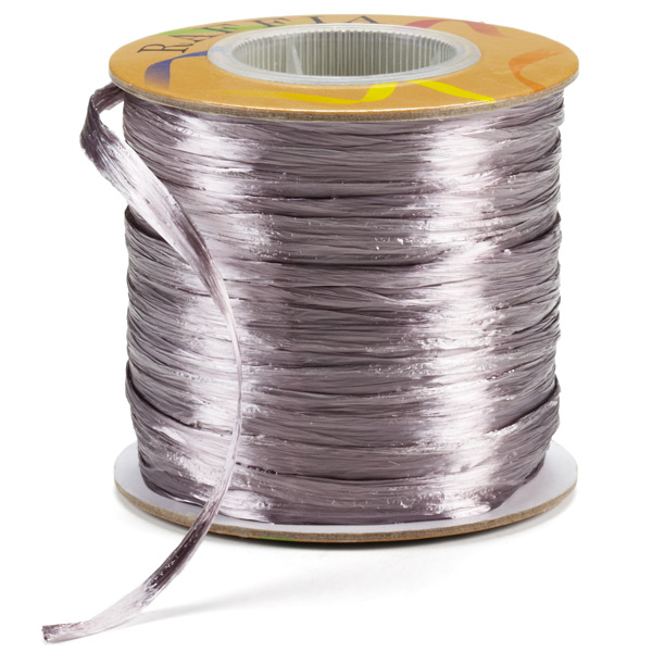 Grey Pearl Raffia Ribbon