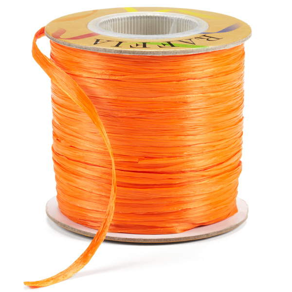 Orange Matte Raffia Ribbon