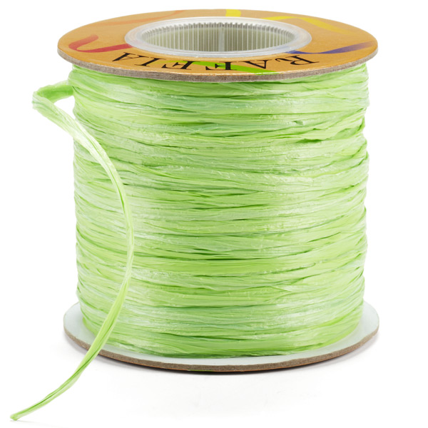Apple Green Matte Raffia Ribbon