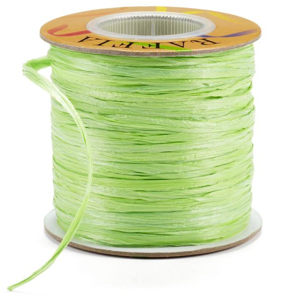 Apple Green Matte Raffia Ribbon