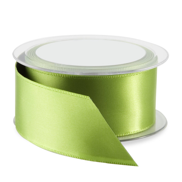 Kiwi Double Satin Wired Ribbon