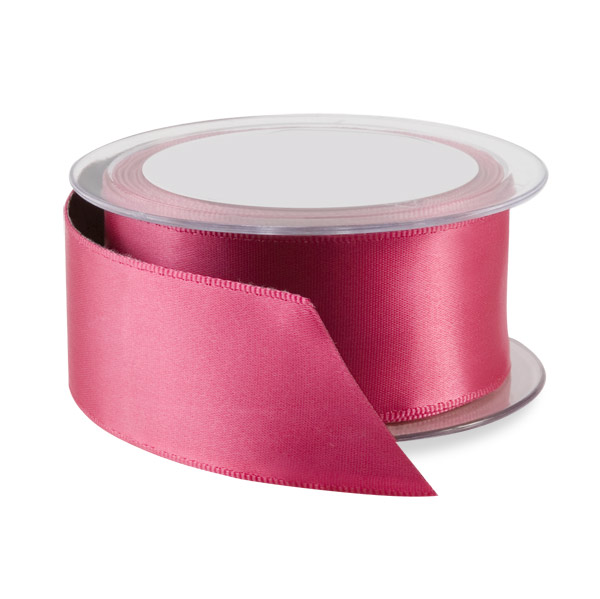 Fuchsia Double Satin Wired Ribbon