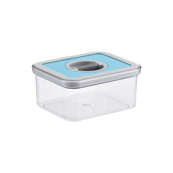 .8 qt. Rectangular Perfect Seal Canister Teal Lid