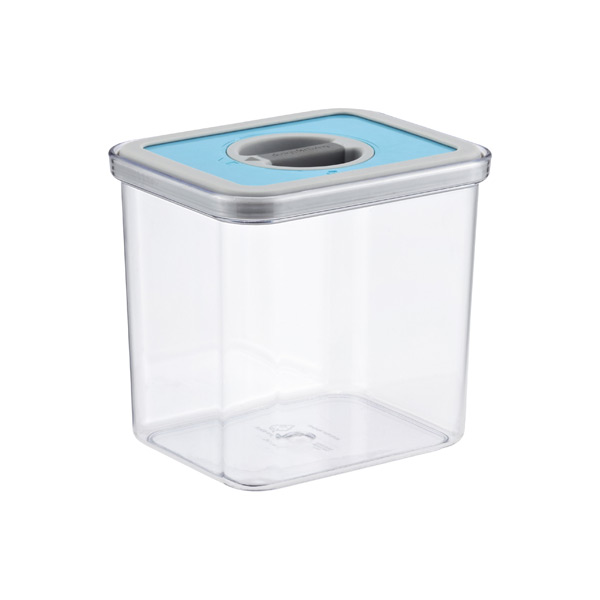 1.9 qt. Rectangular Perfect Seal Canister Teal Lid