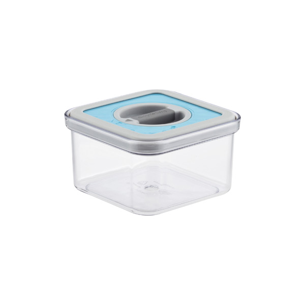 .6 qt. Square Perfect Seal Canister Teal Lid