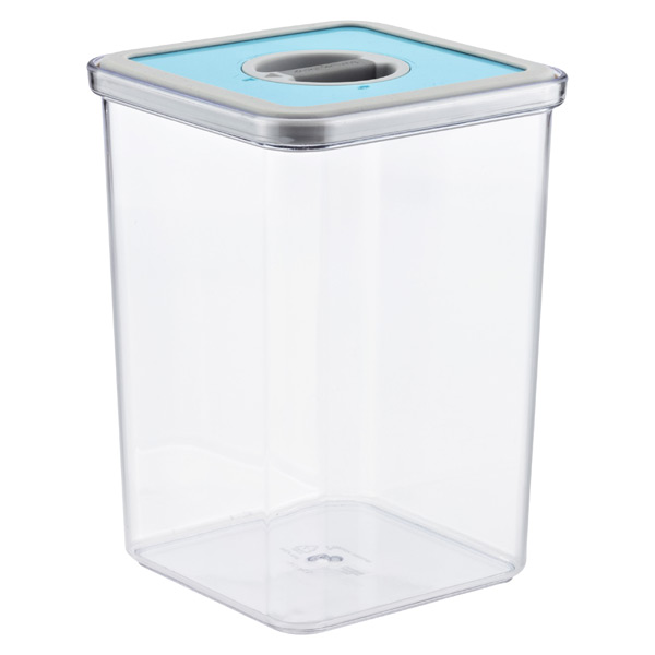 3.7 qt. Square Perfect Seal Canister Teal Lid