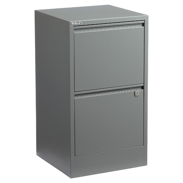 Bisley 2-Drawer Locking Filing Cabinet Graphite