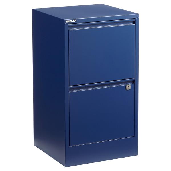 Bisley 2-Drawer Locking Filing Cabinet Oxford Blue