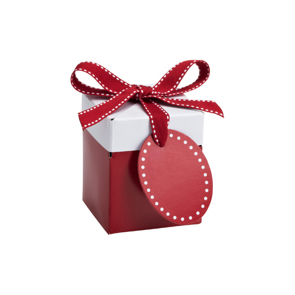 Small Pop-Up Gift Box Red/White