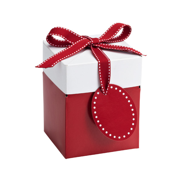 Medium Pop-Up Gift Box Red/White