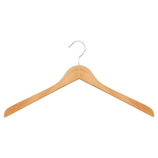 Basic Oversized Shirt Hanger Natural Pkg/6