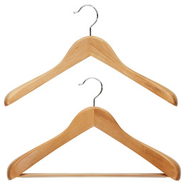 Superior Natural Wooden Coat Amp Suit Hangers Reviews The Container Store