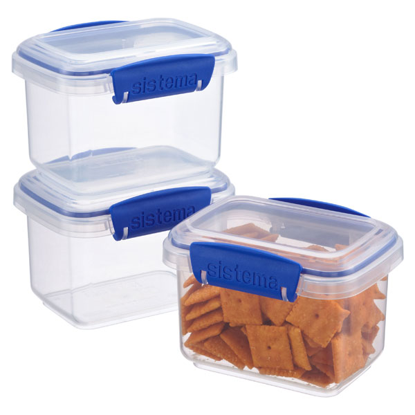 13.5 oz. Sistema Klip-It Snack Boxes
